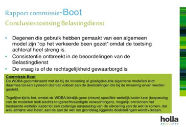 """Waarom steunt de Commissie Boot de modelovereenkomsten?"""