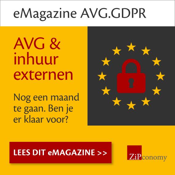 Banner van onze partner eMagazine – AVG & inhuur externen