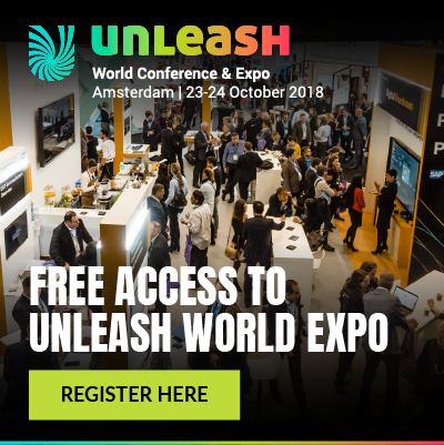Banner van unleash expo