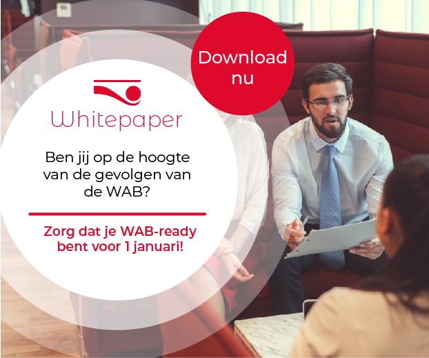 Banner van WAB headfirst