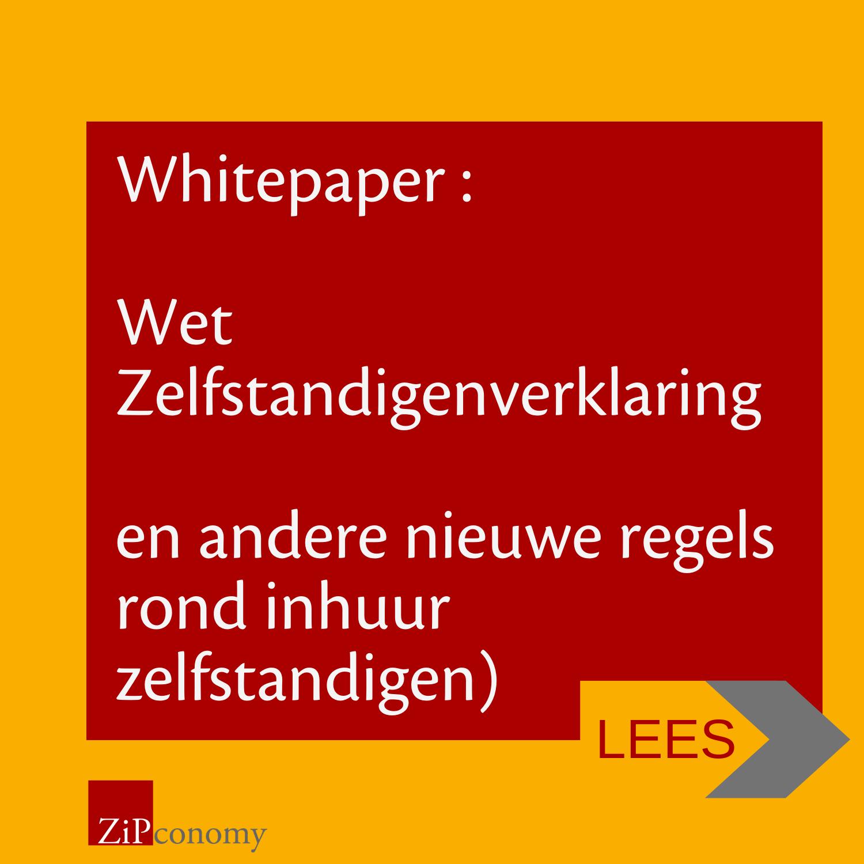 Banner van whitepaper zelfstandigenverklaring