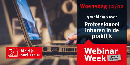 Banner van onze partner webinarweek 2020