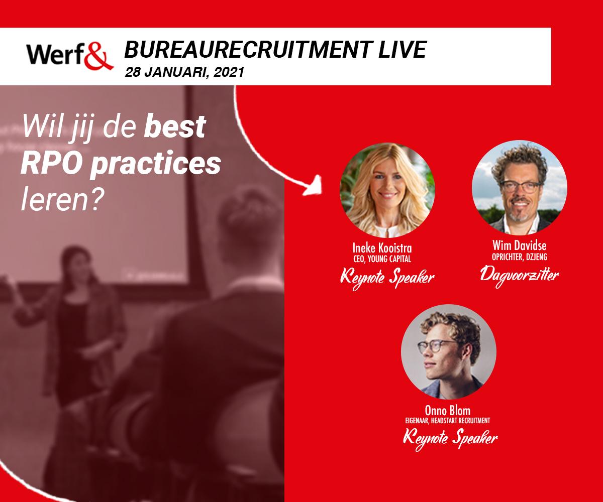 Banner van onze partner Werf& Bureaurecruitment Live